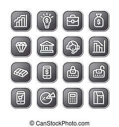 finance icons and buttons