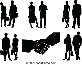 business couple - vector