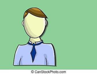 Illustration of business man on green background