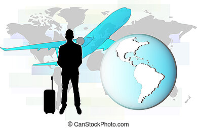 Illustration of business man with t