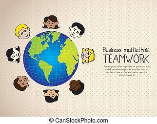 business multiethnic - Illustration of business multiethnic...