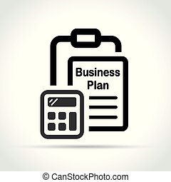 business plan icon on white background
