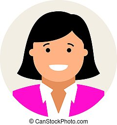 business woman head icon