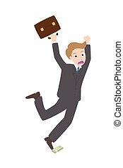 Illustration of businessman stumble