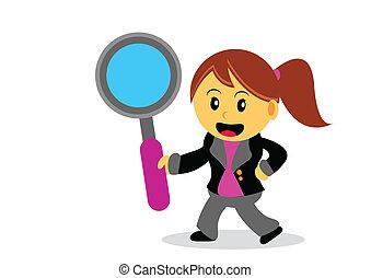 businesswoman - illustration of businesswoman cartoon...