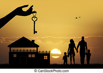illustration of buy house