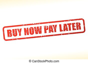 buy now pay later text buffered