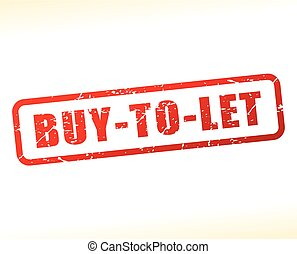 buy to let red text stamp