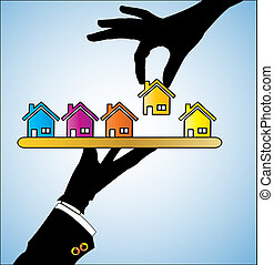 Illustration of Buying House/Home - Illustration of buying a...