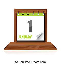 calender - illustration of calender on white background