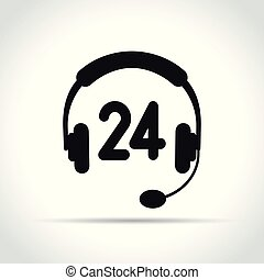 call center icon on white background