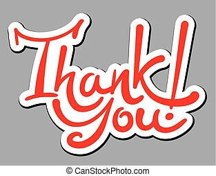 lettering sticker thank you