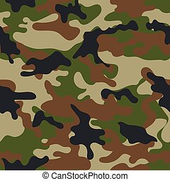 Illustration of Camouflage seamless pattern. Can be used for background design, military textile.