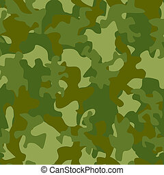 Illustration of camouflage seamless pattern