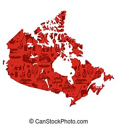 Illustration of Canada map.
