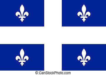 Quebec flag - Illustration of Canadian state of Quebec flag,...