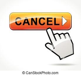 cancel web button concept