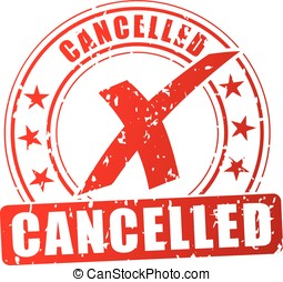 cancelled red stamp