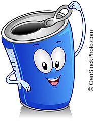 Canned Drink - Illustration of Canned Drink Character