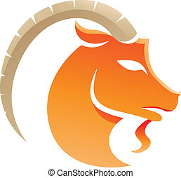 Capricorn Zodiac Star Sign - Illustration of Capricorn...