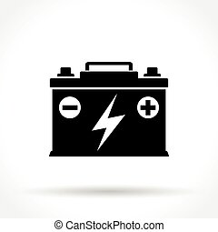 Electric car battery charging sign white section of icon on car battery icon malvernweather Images