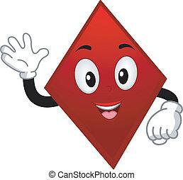 Card Suit Diamond Mascot