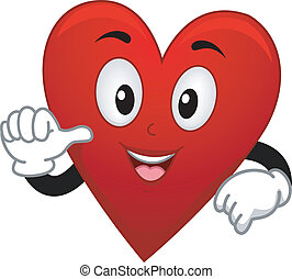 Card Suite Heart Mascot