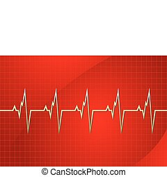 cardiology - illustration of cardiology on abstract...
