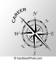 Illustration of Career written aside compass