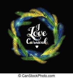 Illustration of Carnival Mardi gras with multicolors ...