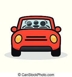 carpool design on white background