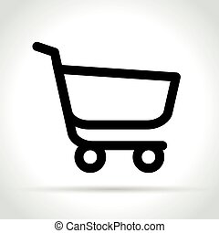 cart line icon on white background