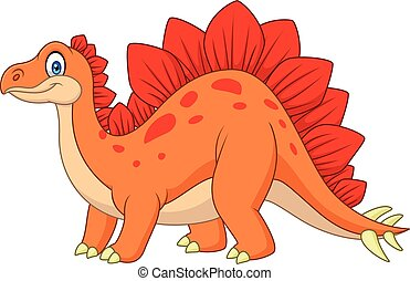 Carton happy stegosaurus - illustration of Carton happy...