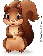 Cartoon adorable squirrel - illustration of Cartoon adorable...