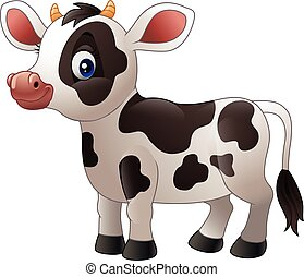 Cartoon baby cow - illustration of Cartoon baby cow