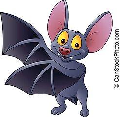 Cartoon bat waving