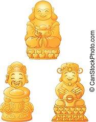 Cartoon Buddha collection set