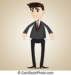 cartoon businessman have no money - illustration of cartoon ...