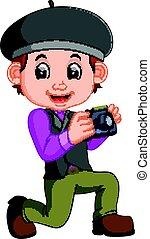 Cartoon character - photographer