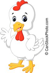 Cartoon chicken rooster - illustration of Cartoon chicken...