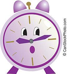 Illustration of cartoon clock