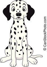 Cartoon cute dalmatian dog