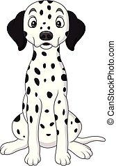 Cartoon cute dalmatian dog