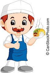 cartoon cute funny chef