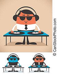 DJ - Illustration of cartoon DJ. No transparency and ...