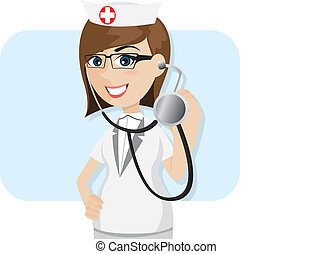 cartoon doctor with stethoscope
