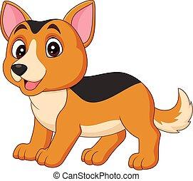 illustration of Cartoon dog isolated on white background