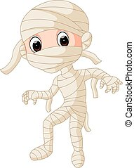 Cartoon Egyptian mummy
