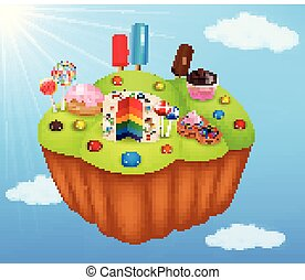 Cartoon fantasy candyland