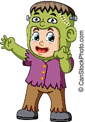 Cartoon Frankenstein kid